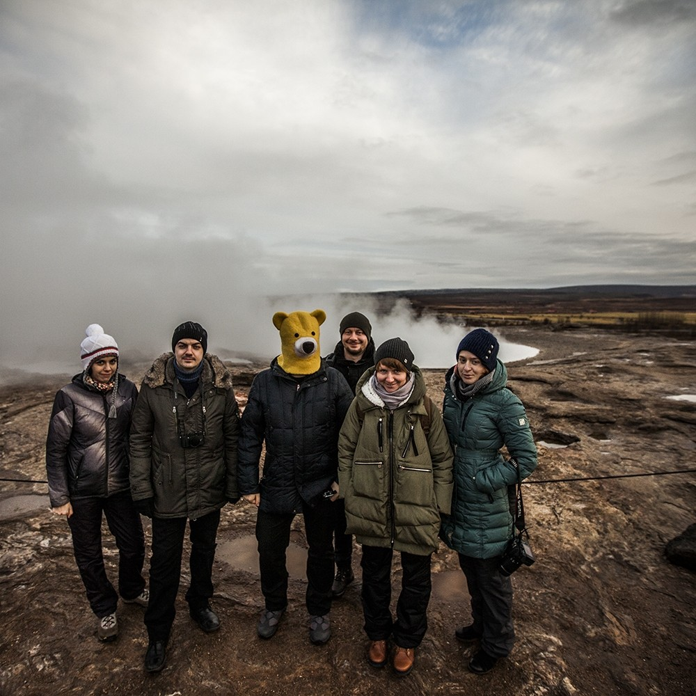 Долина гейзеров в Исландии