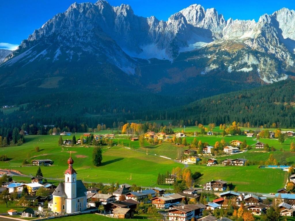 Обои австрия, курорт, ночь, austria. Города foto 18
