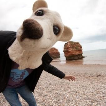 Пляж Ladram Bay в Великобритании