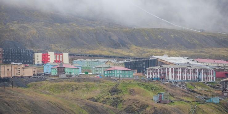 Баренцбург - российских шахтерский поселок на Шпицбергене