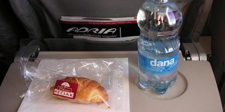 Бортовое питание на европейских авиакомпаниях