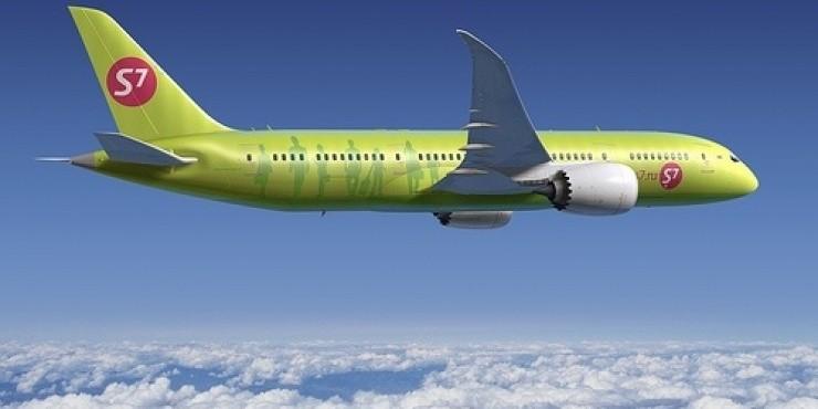 В Большом Савино самолет S7 Airlines выкатился за пределы ВПП