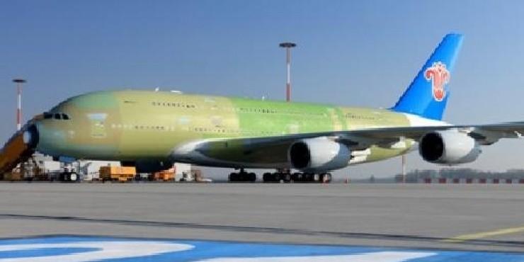 Первый полет самолета Airbus A380 China Southern Airlines