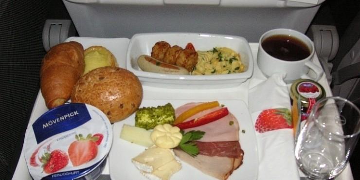 Бортовое питание на рейсах Пермь - Франкфурт - Загреб
