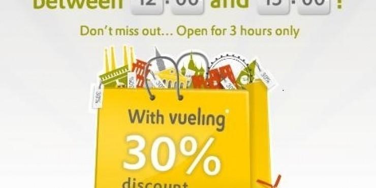 Распродажа Vueling - только 3 часа
