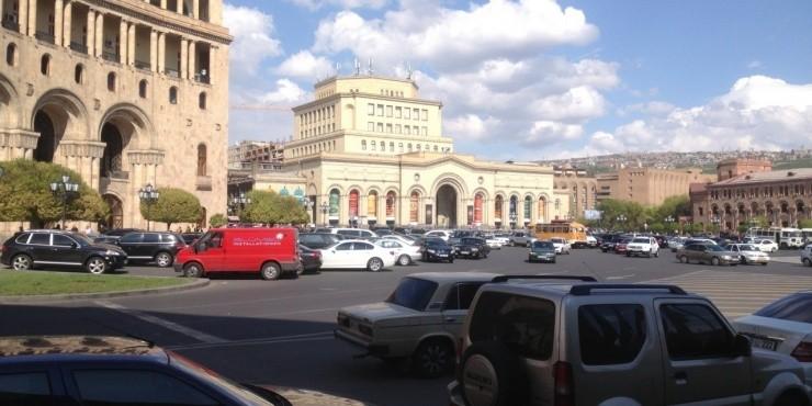 Ереван, Нагорно-Карабахская республика, горы и туман