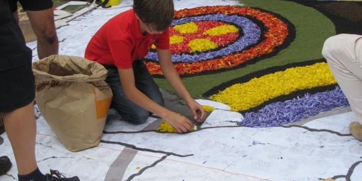 Праздник Корпус Кристи в Оротаве,  фиеста цветов