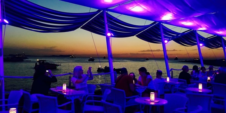 Café del Mar. It was a magic sunset in a beautiful place