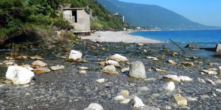 Один день в Абхазии. Самая короткая в мире река.