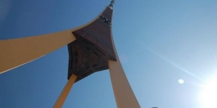 Телебашня в Риге стала выше на 4 сантиметра