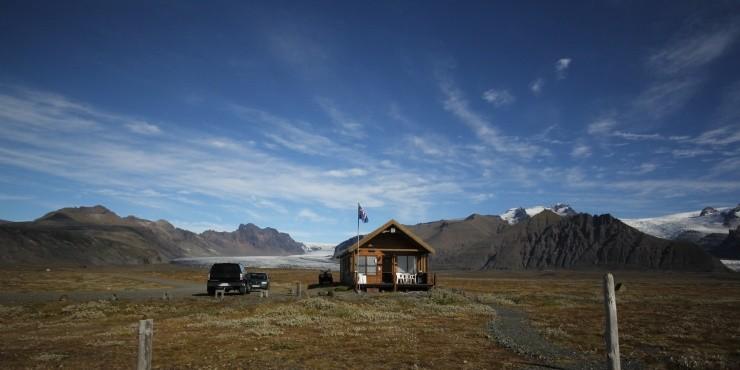 Полеты над ледниками Исландии