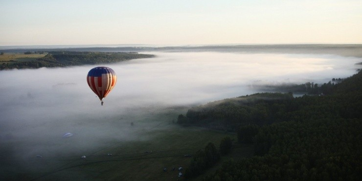 Полеты на воздушном шаре в Кунгуре