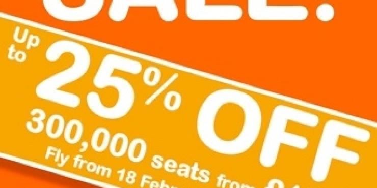EasyJet делает скидку 25% на все рейсы до 31 марта 2011 года