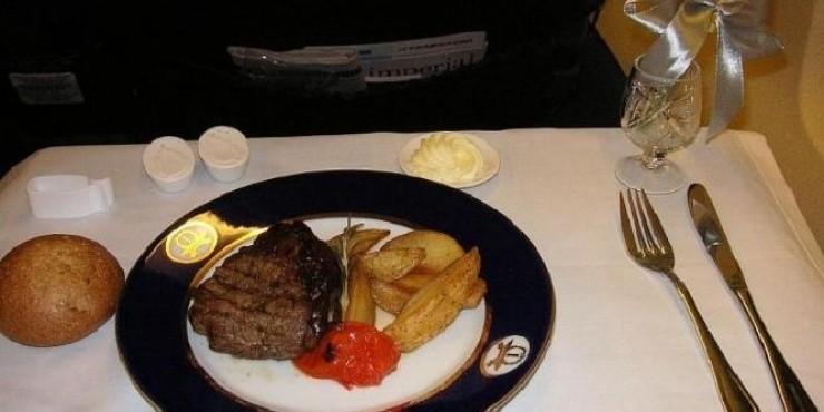 Бортовое питание на рейсах Москва - Алма-Ата - Москва (Трансаэро)