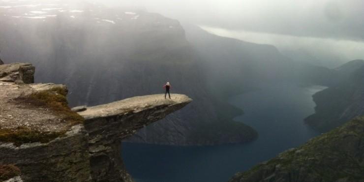 Тролльтунга (Язык Тролля) - знаковое место в Норвегии